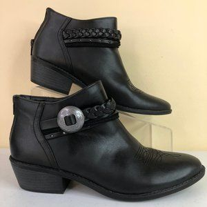 DV Faux Leather Western Style Ankle Booties